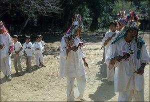 Nahua Men and Boys Dancing, 1970