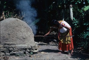 Nahua Woman Baking Bread, 1985