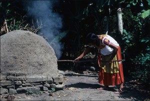 Nahua Woman Baking Bread, 1985