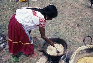 Nahua Woman Cooking, 1985