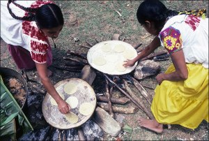 Nahua Women Cooking, 1985